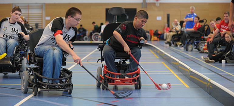 Bild Ehockey_ehockey copyright rollstuhlsport.de, Duisburg, 2014 Mit freundlicher Genehmigung von Fr. Surzukova