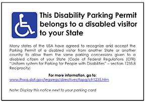 Beispiel Parking Permit, copyright: FIA, 2014