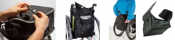 Rollstuhlrucksäcke, -taschen und -boxen von Rollimoden.