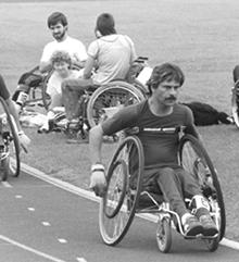 Rainer Küschall beim Training.