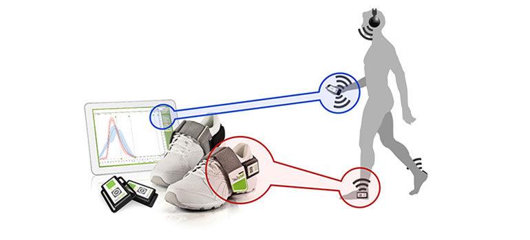 Bewegungssensoren und Tablet-PC sollen helfen Gangmuster gezielt zu korrigieren. Foto: Universitätsklinikum Heidelberg