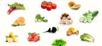 Lebensmittel mit hohem Wassergehalt