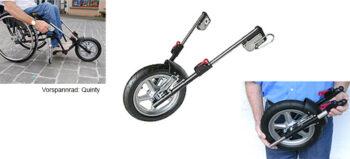 Das Vorspannrad: Ein fünftes Rad am Rollstuhl