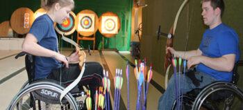 Bogenschießen für Rollstuhlfahrer