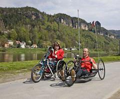 Sächsische Schweiz: Handbiken