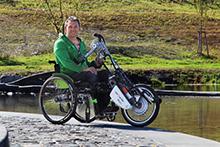 Mit dem E-Handbike entlang der Donau....