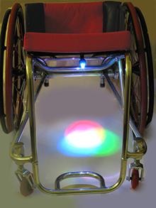 wUnderglow: Rollstuhllicht