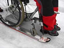 Schlitten für den Rollstuhl: Lugicap