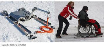 Mit dem Rollstuhl auf Eis und Schnee