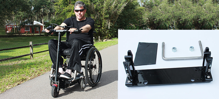 Pop n Drop – So wird der Rollstuhl zum E-Roller