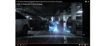 Hologramm kämpft für Behindertenparkplatz