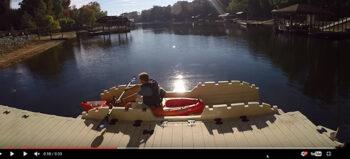 EZ Kayak Dock für Rollstuhl-Bootsport