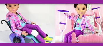 Spielzeug: Rollstuhl und Gehhilfe selber basteln