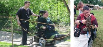 Im Rollstuhl ins Mittelalter