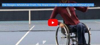 Rollstuhl mit neuartiger Kurvenlenkung