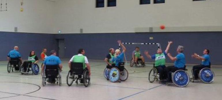 Rollstuhl-Handball