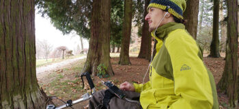 Rollstuhlfahrer und Smartphones