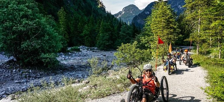 Mit dem Handbike über die Alpen: Das Team ROL IT rockt die Berge