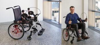 Neuentwicklung: Rollstuhl mit Kurbelantrieb