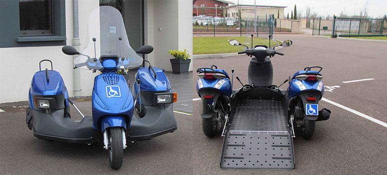 Motorroller für Rollstuhlfahrer