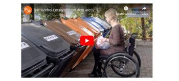 Rollstuhlgerechte Einwurfhilfe für Mülltonnen