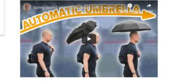 Schirme und Rollstuhlfahrer
