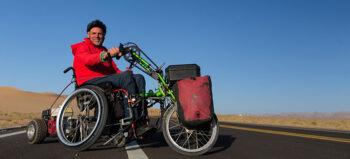 Andreas Pröve über das Weltenbummeln im Rollstuhl
