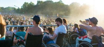 Als Rollstuhlfahrer auf dem Festival