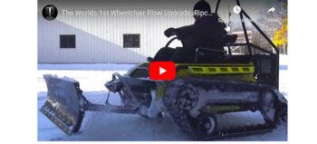 Power-Outdoor-Rollstuhl mit Schneepflug