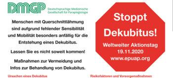 Weltweiter Aktionstag: Stoppt Dekubitus!