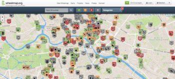 Wheelmap: Interaktive Karte mit barrierefreien Orten