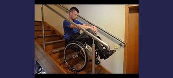 Dezziv Bremse für das einfachere Befahren von Treppen, Steigungen und Rampen