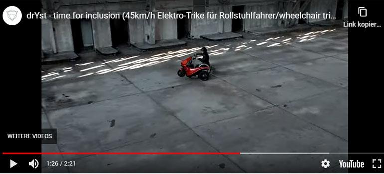 Der drYst – Rollstuhlgerechter E-Motorroller mit erstaunlicher Reichweite
