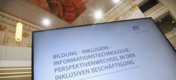 Digital-Konferenz: Auf erstem Arbeitsmarkt mehr Chancen für behinderte Menschen