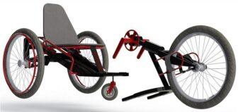 Handbike mit integriertem Rollstuhl: Auch auf Tour selbstständig in den Supermarkt oder auf die Toilette