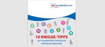 Broschüre: 10 Knigge-Tipps zum respektvollen Umgang mit behinderten Menschen